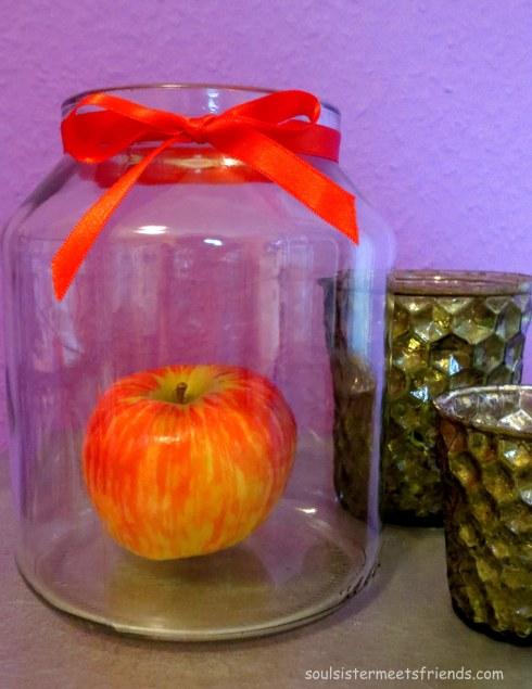 Apfel im Glas