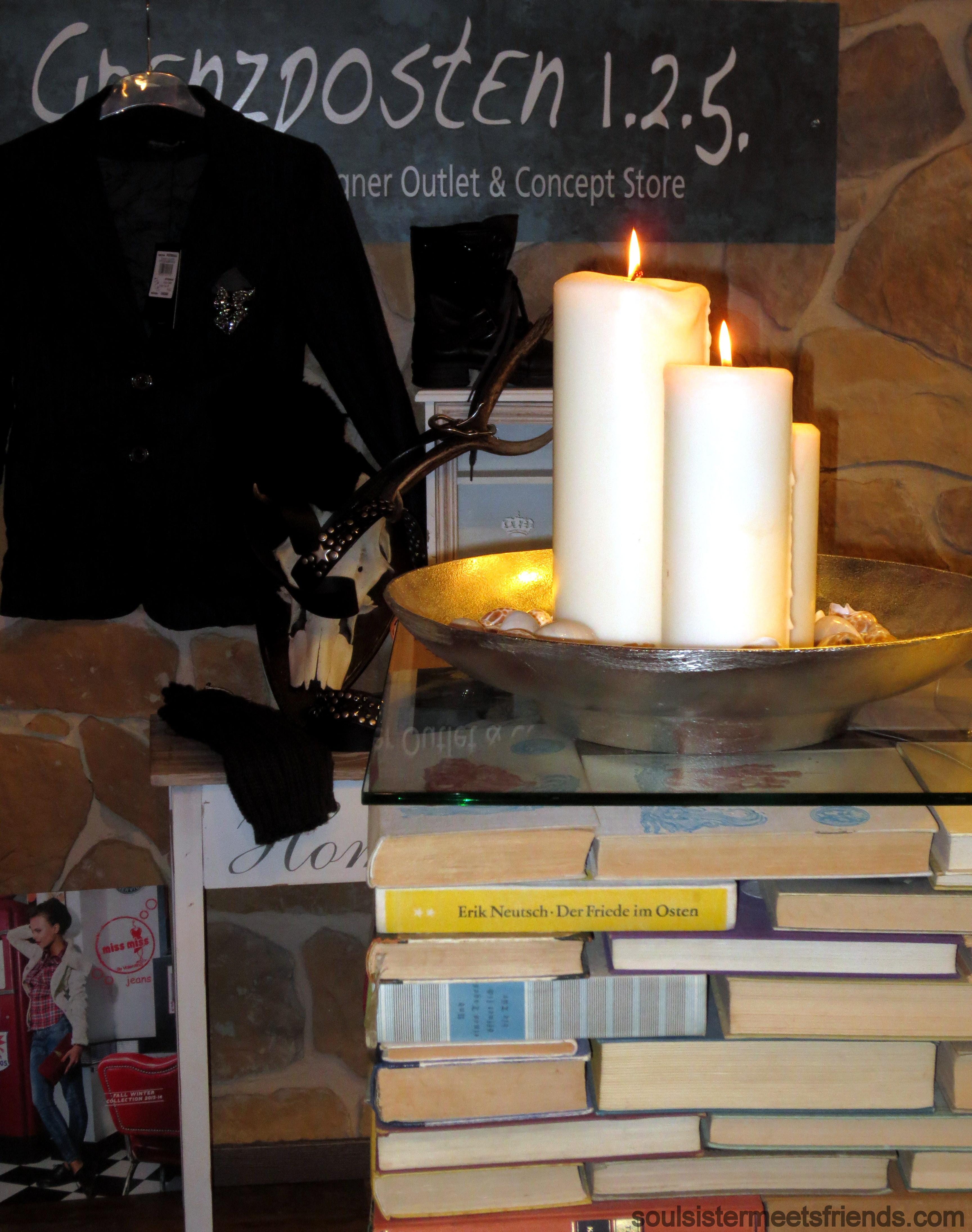 Grenzposten Tresen mit Kerze
