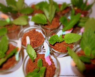 Grünes Dessert